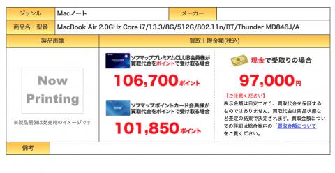MacBook Air リセール