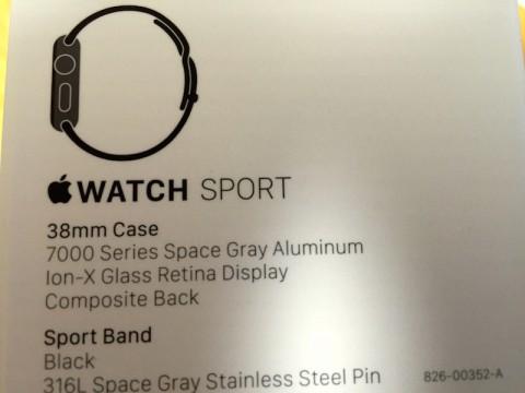 Apple Watch Sports Black 38mm